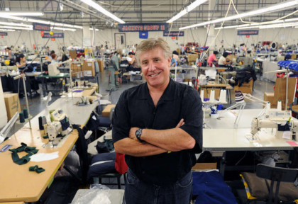 John Strotbeck, owner of Boathouse Sports, at their Northeast Philadelphia plant.